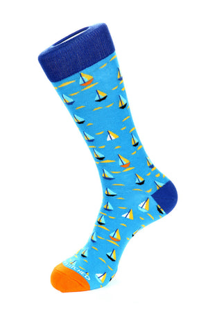 Colored Sailboats Sock