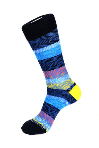 Ripped Stripe Sock