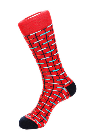 Box Plaid Sock