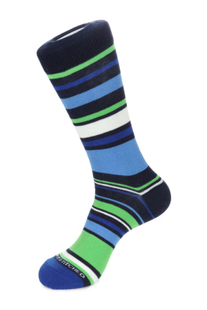Penta Color Stripe Sock