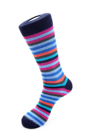 6 Color Stripe Sock