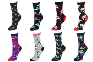 8 Pair Value Pack Women's Socks 1002