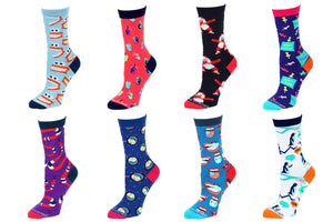8 Pair Value Pack Women's Socks 1007