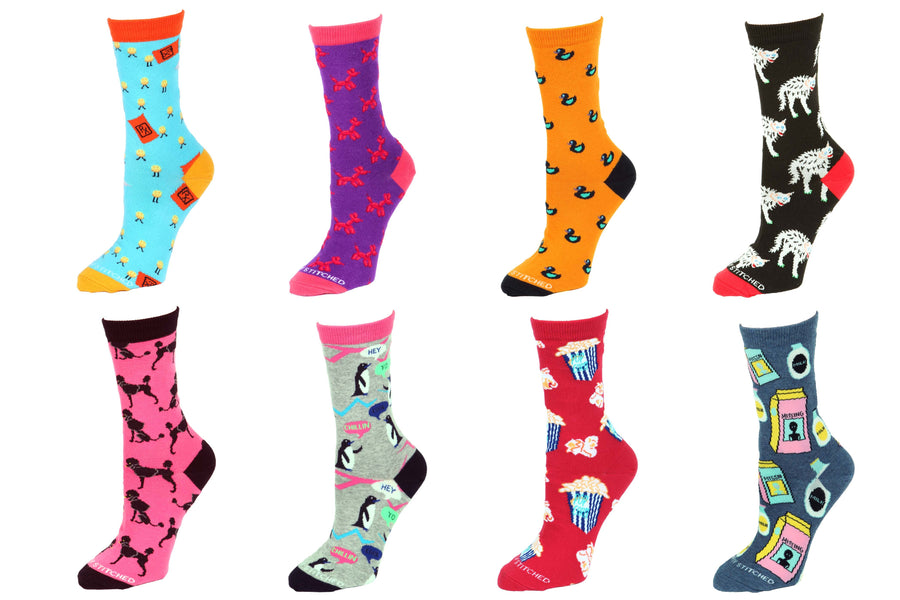 8 Pair Value Pack Women's Socks 1009