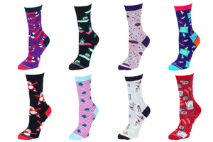 8 Pair Value Pack Women's Socks 1010