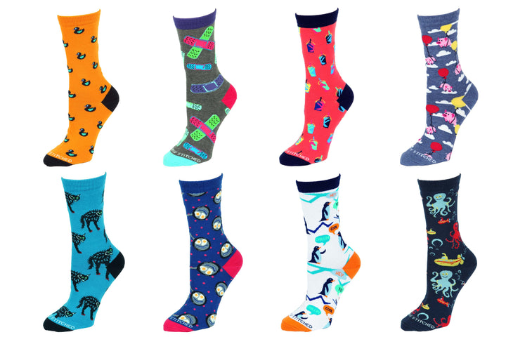 8 Pair Value Pack Women's Socks 1012