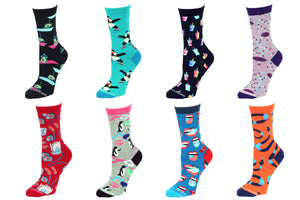 8 Pair Value Pack Women's Socks 1013