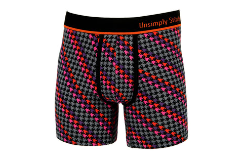 HOUNDSTOOTH SPIRAL BOXER BRIEF