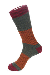 Boot Sock Melange Block Stripe