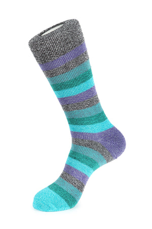 Thick Basic Stripe Boot Sock