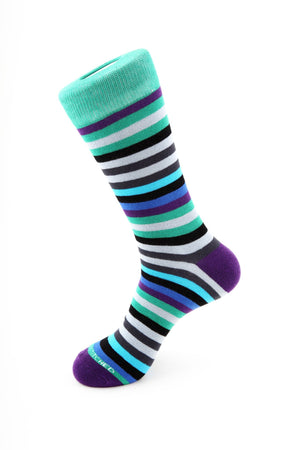 7 Color Stripe Sock