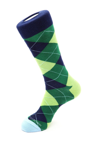 Glow Stick Party Argyle Sock