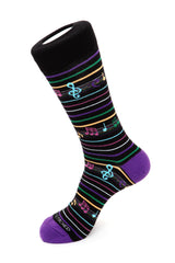 Musical Note Stripe Sock
