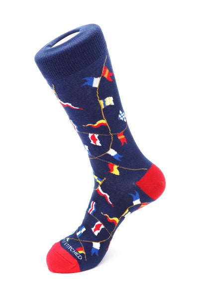 Nautical Flags Sock