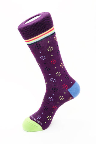 Polka Dot Stripe Sock