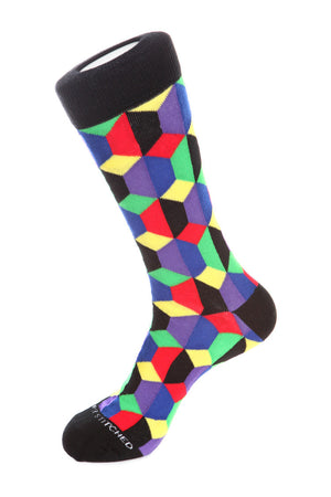 Geo Blocks Sock