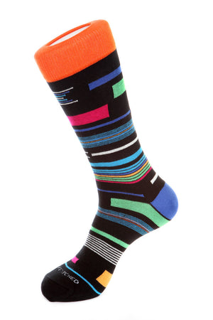 Scattered Stripe Sock