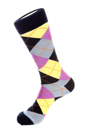 Winter Ice Sky Argyle Sock