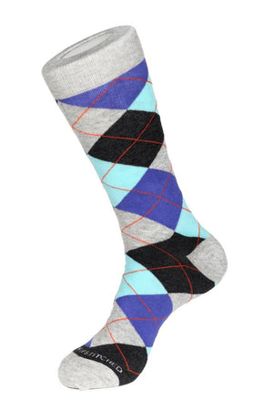 Mint Chip Argyle Sock