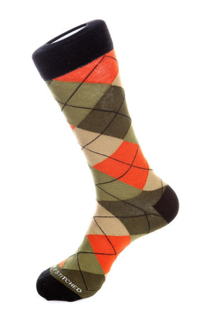 Blazing Sky Argyle Sock