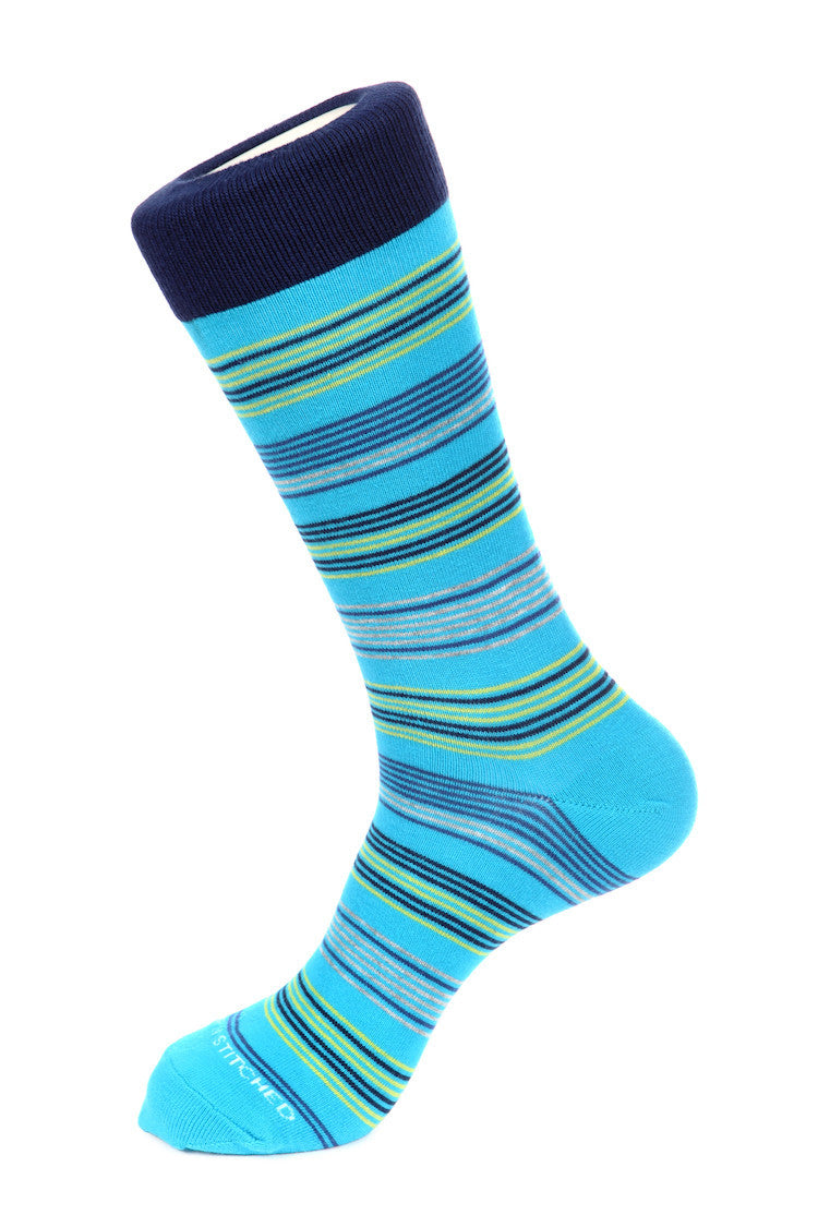 Needle Stripe Sock