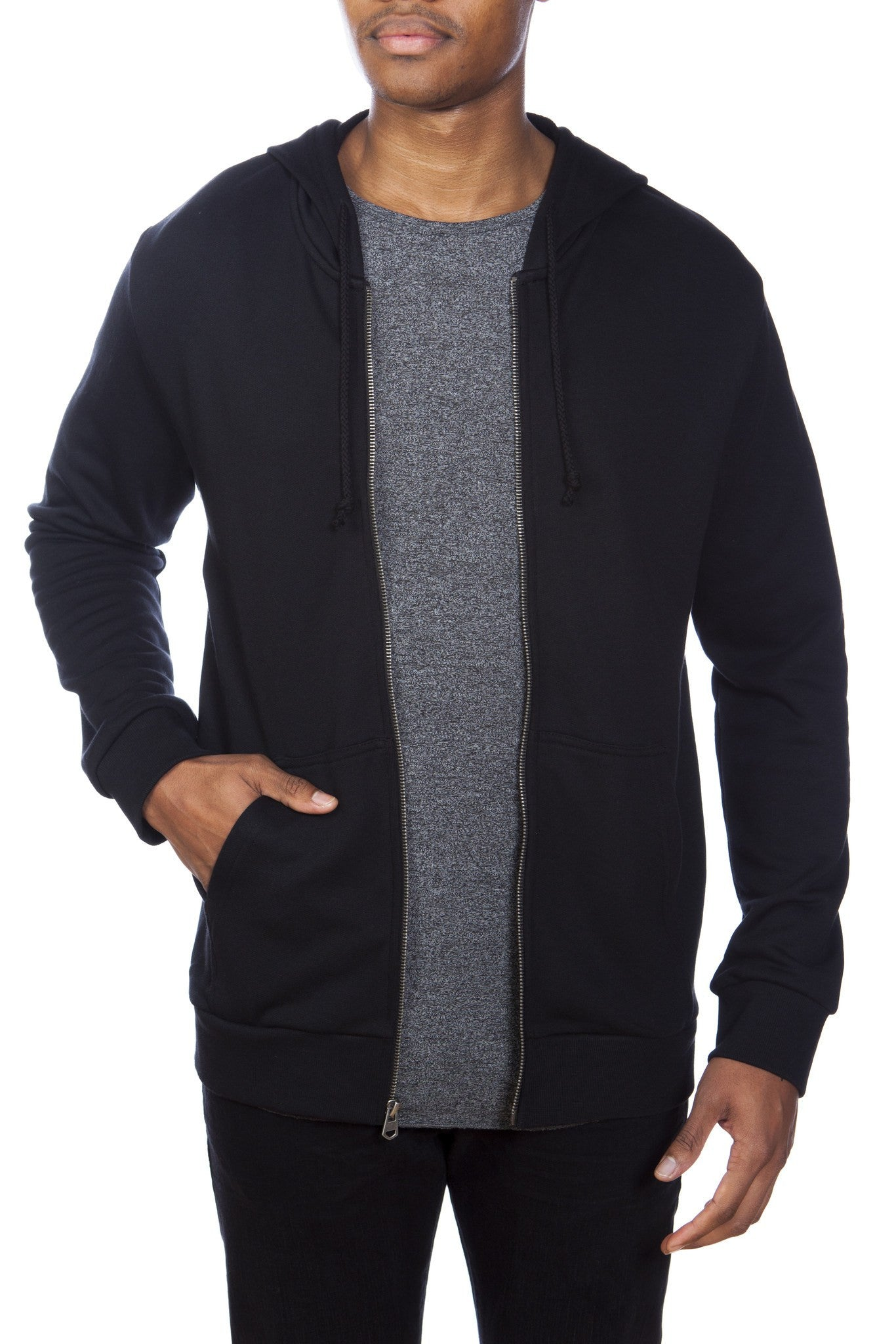 Cotton/Modal French Terry Zip-Up Hoodie