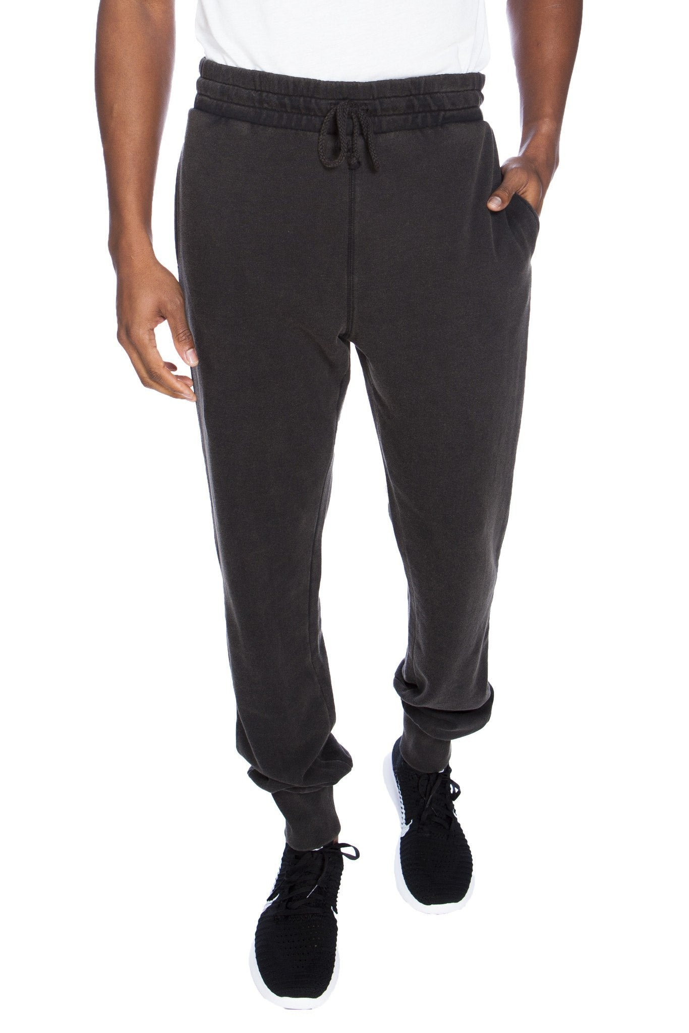 Stone Washed Cotton/Modal French Terry Jogger