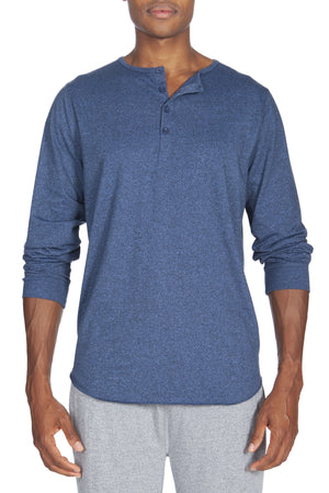 Poly Viscose Long Sleeve Henley