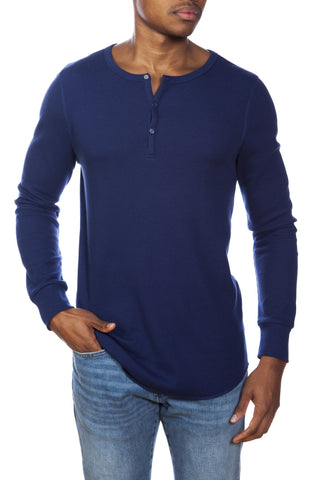 Cotton/Modal French Terry Relaxed Neck Crew Sweater