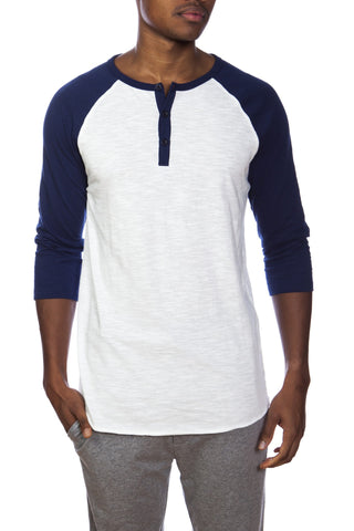 3/4 Sleeve Lounge Baseball Tee