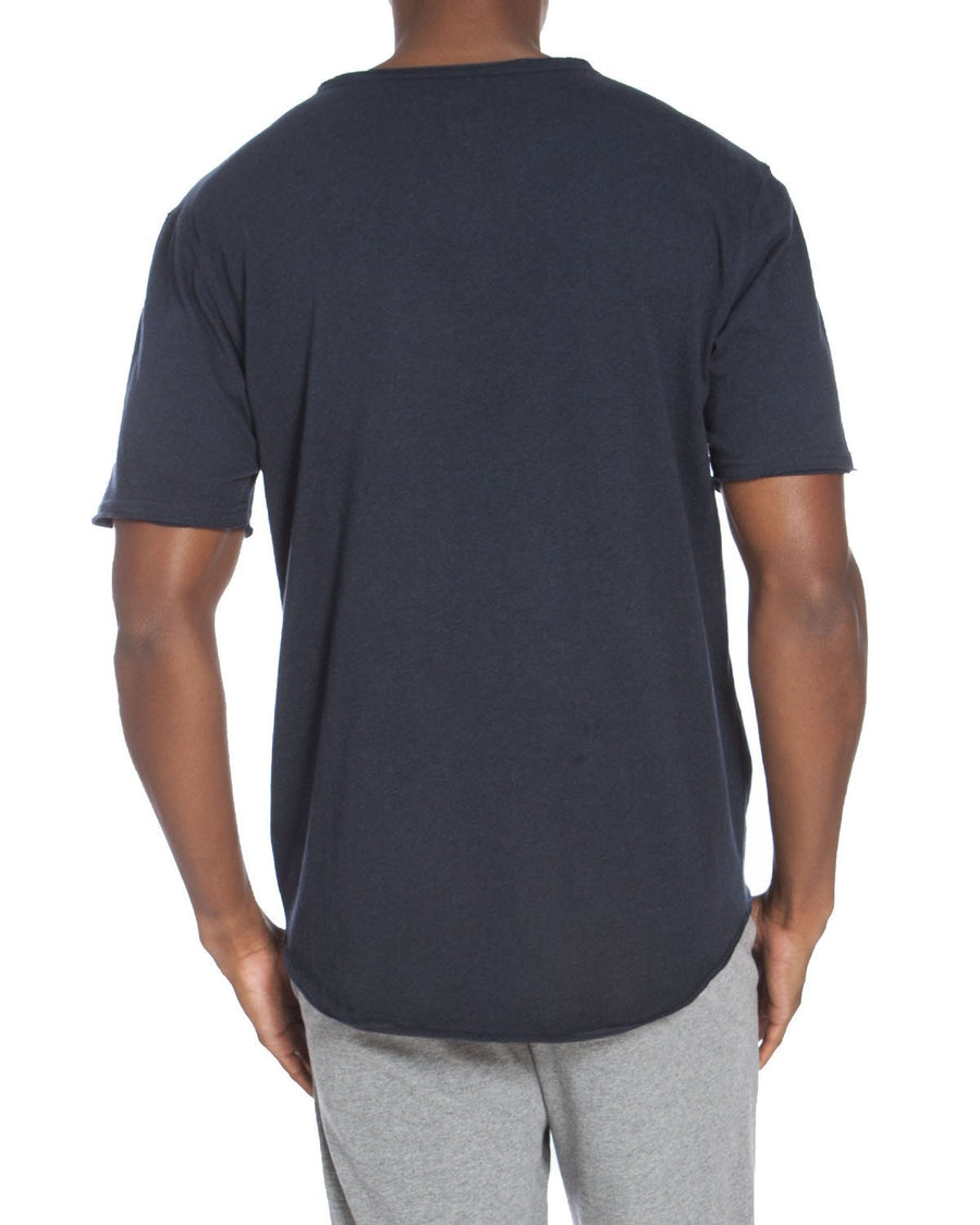 Raw Edge Short Sleeve Short Sleeve Pocket Tee