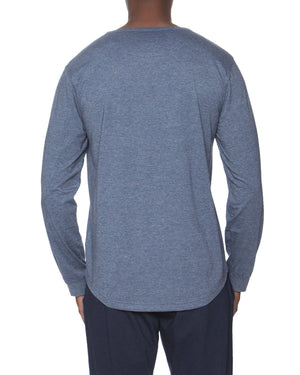 Long Sleeve Lounge Henley Contrasting Piping
