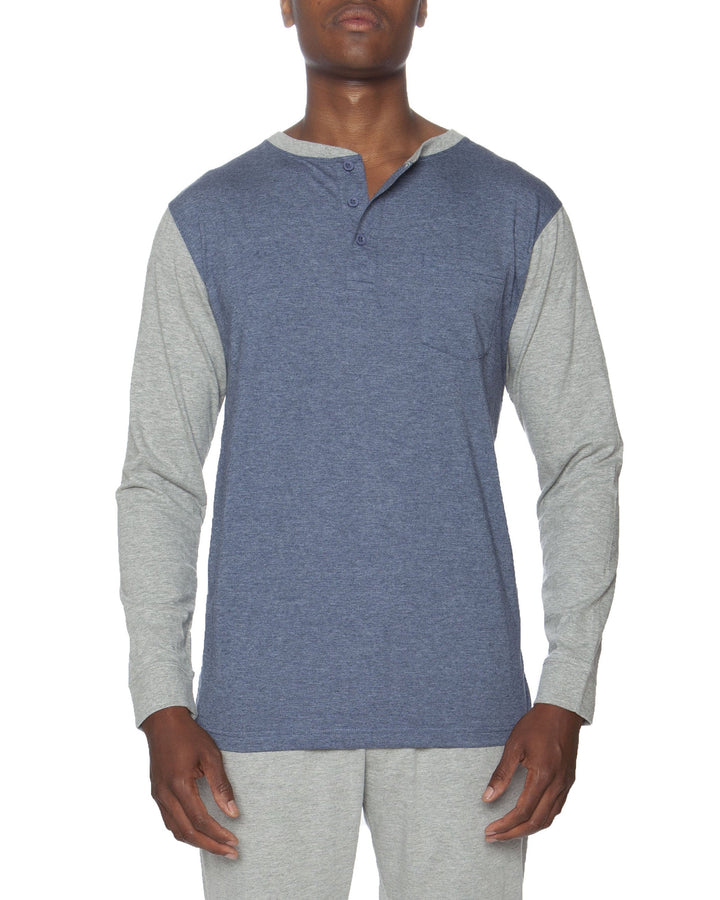 Long Sleeve Pocket Baseball Henley