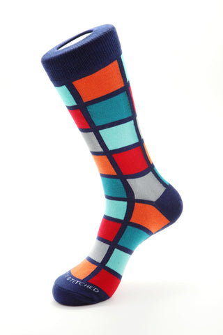 Connected Blocks Sock