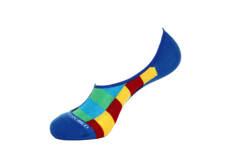 Rainbow Circle- no show Sock
