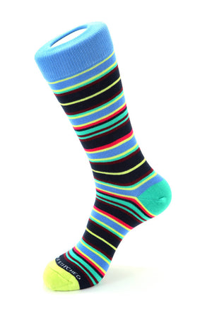 Layered Stripe Sock