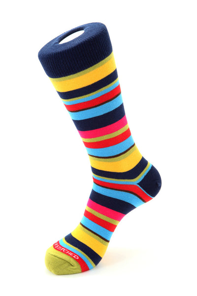 Sequenced Stripe Sock