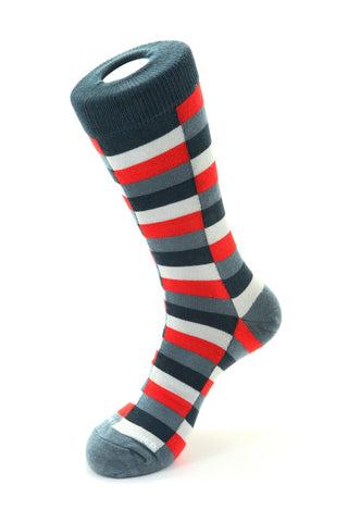 Lobster Stripe-No Show Sock