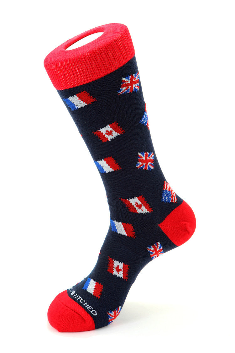 Patriotic Stamps Sock