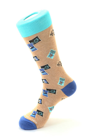 Nautical Stamps Sock