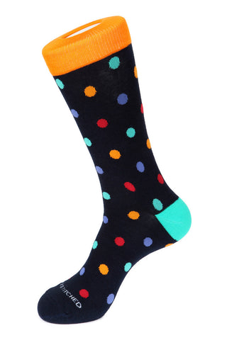 Diagonal Polka Dot Sock