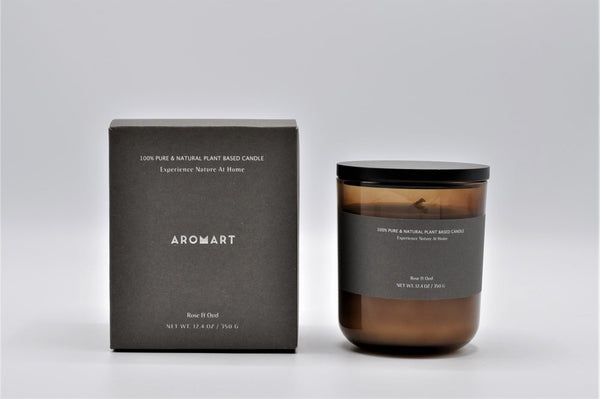 Aromart Botanical 100% Natural Plant Base Soy Wax Candle 50hr
