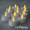 12 x  Battery Operated Flickering LED Tea Lights