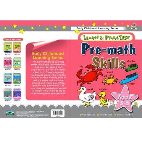 Pre Math Skills Learn and Practice Childrens Activity Book