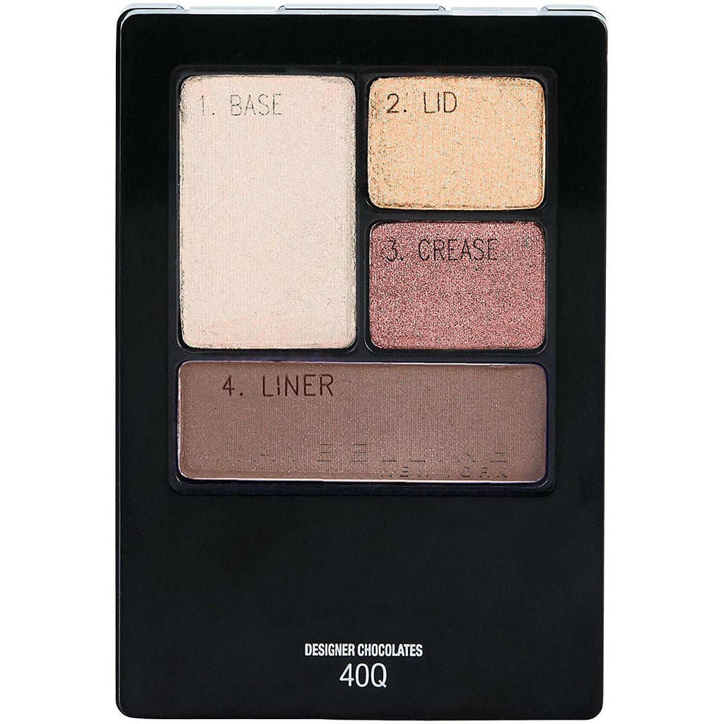 Maybelline Expert Wear Eyeshadow Quads 40Q Designer Chocolate