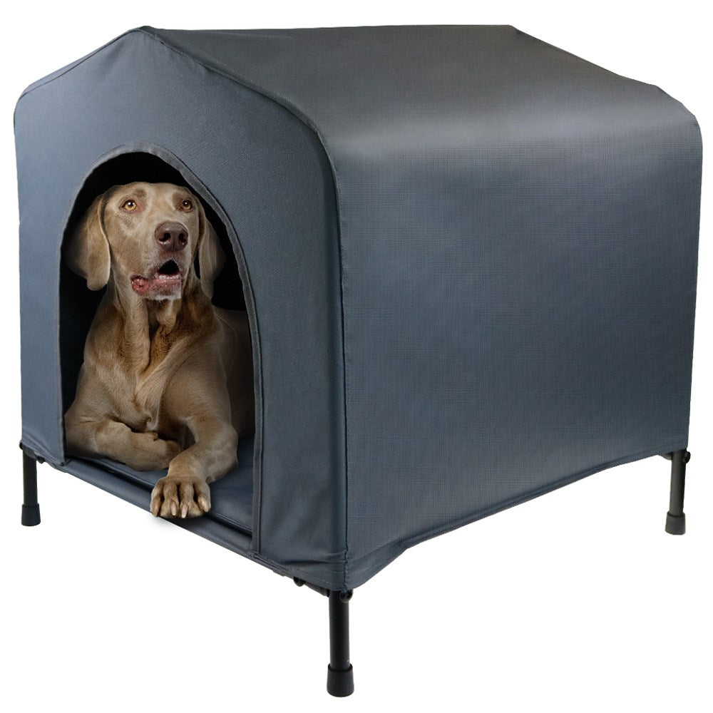 Portable Weather Resistant Elevated Pet House w Cushion Large - 102 x 84 x 93cm