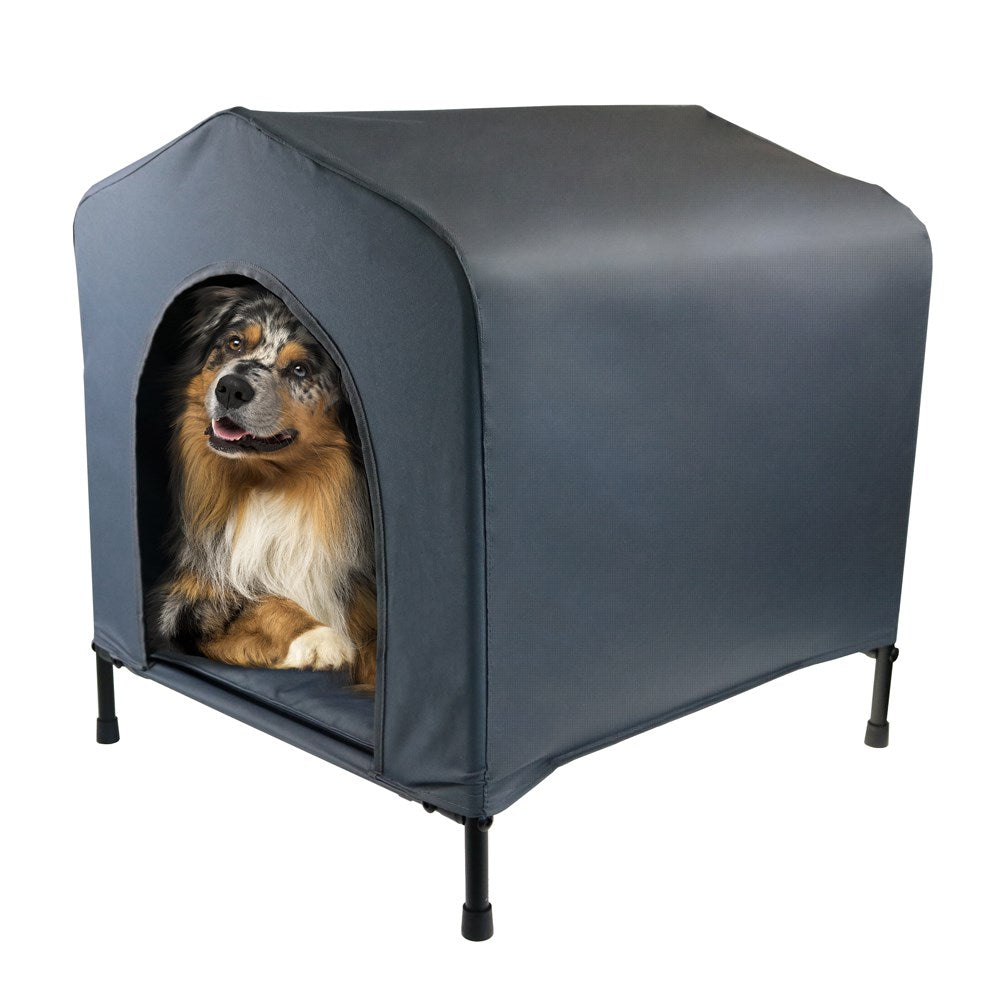Portable Weather Resistant Elevated Pet House w Cushion Medium - 62 x 58 x 63cm