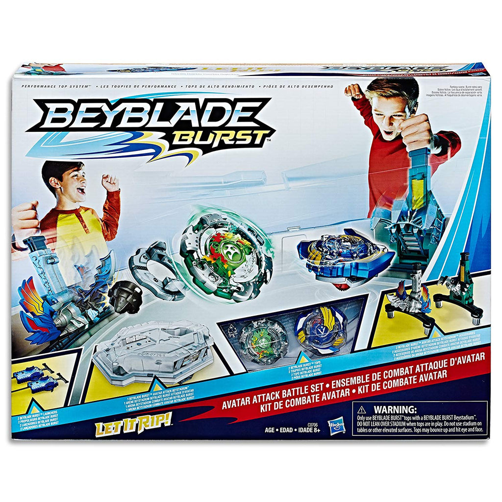 Beyblade Burst - Avatar Attack 2 player Battle Set with Stadium, Launchers & Tops