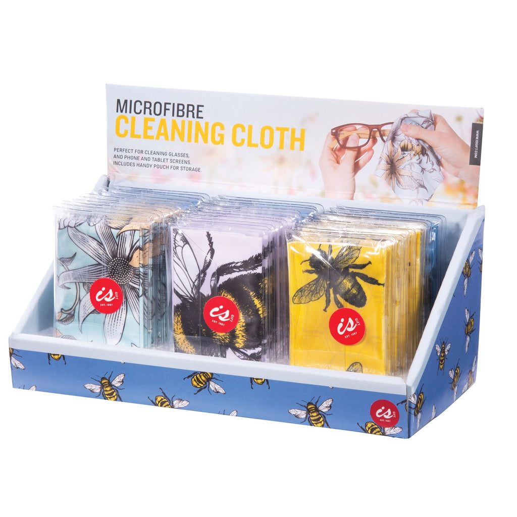 IS GIFT  Microfibre Cleaning Cloth 15cm x 18cm - Bees
