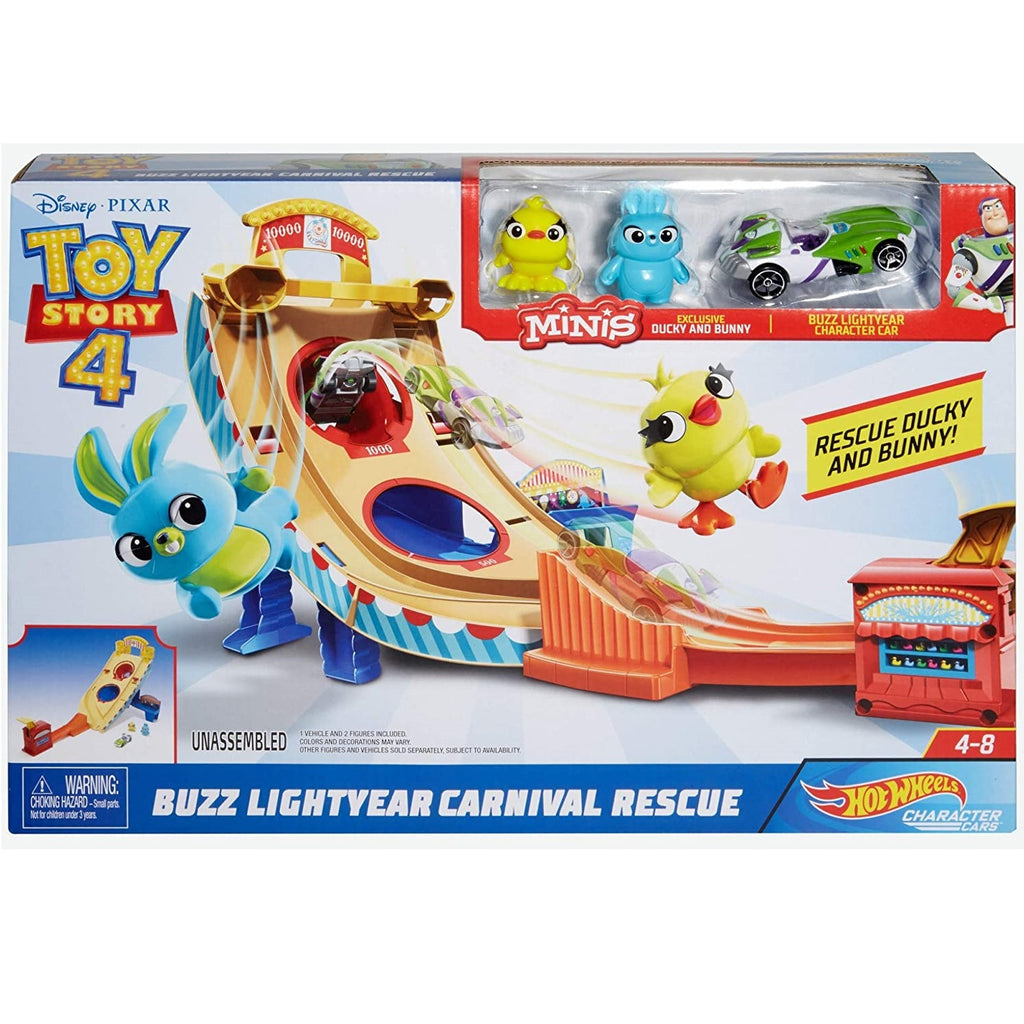 Hot Wheels Toy Story Buzz Lightyear Carnival Rescue Playset